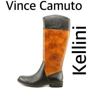 Vince Camuto Kellini Leather Boots Size 7.5